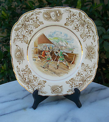 John Maddock & Sons Collectors Plates Series ROBIN HOOD CAPTURES THE PIRATE SHIP