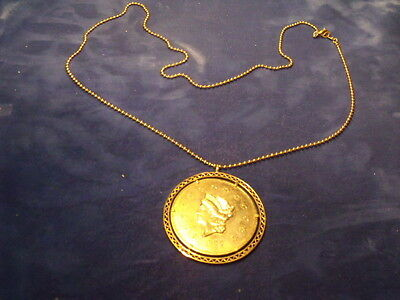 1855 Wass Molitor & Co. 50 Dollars (Copy) In A Necklace With Holder