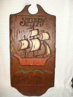 Chandler Ships 1776 Sign Wall Plaque Foam Dimensional Products Looks Like Wood