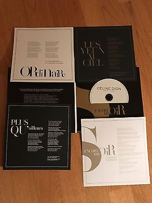Celine Dion Encore Un Soir Promo Press kit CD Single Rare 2016