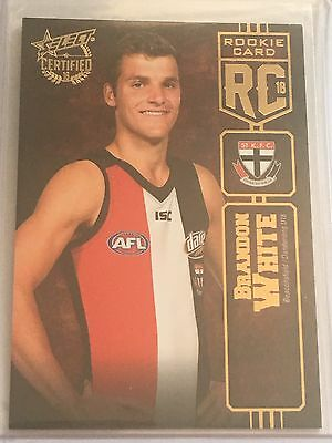 2016 Select Certified Rookie Card Brandon White St.Kilda LOWEST NUMBER 002