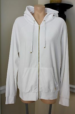 NEW AUTH JUICY COUTURE Relaxed Jacket In Bridal Velour WHITE XL RETAIL $108