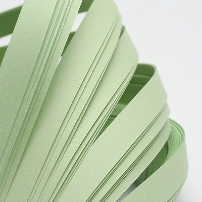 120pcs QUILLING PAPER STRIPS - PALE GREEN - DIY papercraft craft wholesale