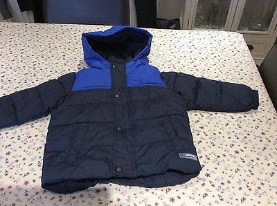 Baby Gap Boys Padded Coat with Hood, Age 2 Years