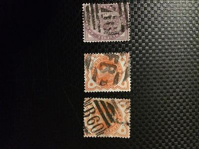 3 Victorian stamps, Great Britain stamp collection. Collectable Stamps