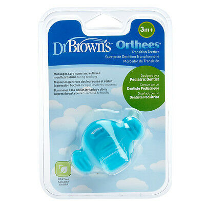 Dr Brown's Orthees Transition Teether Blue Dr Browns