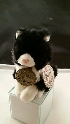 Russ Yomiko Classics Black & White Cat Plush w/tag