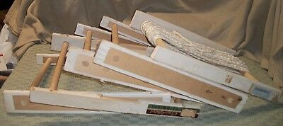 Lot of 5 Vintage Racks Holders for Fabric Trim; 14 x 10 x 2; Excellent Condition