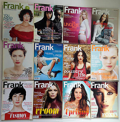 1997, 1998, 1999 Collection 12 FRANK Fashion Magazine; w/ launch issue 1,2,3,4,5