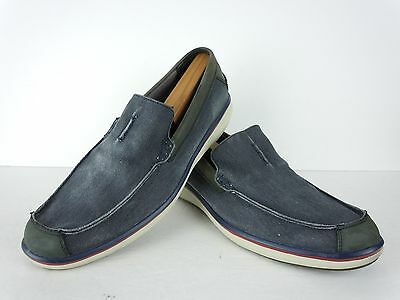 Mens Mark Nason for Skechers 68118 Blue Canvas Loafers Size 12