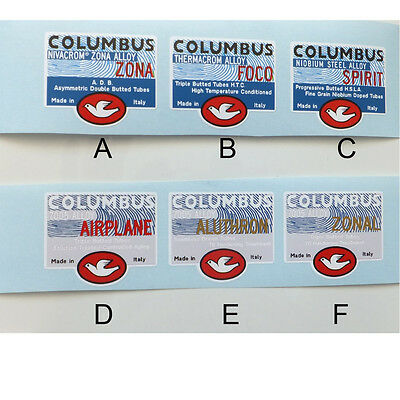 Columbus Aiplane, Zonal, Zona, Foco, Spirit, Aluthron choice of one per sale