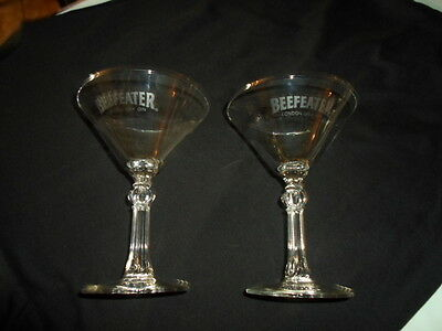 Beefeater London Dry Gin Stemmed Martini Glasses - PAIR OF 2