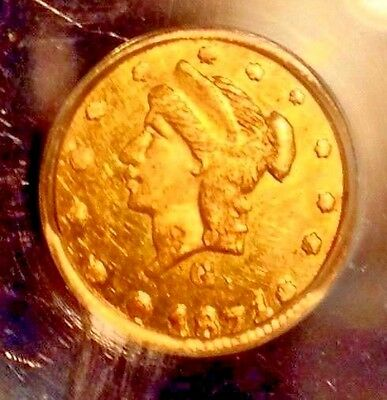 1871 PL Gold 25C Fractional..PCGS MS 61 BG-839..Mirrors Sale26%Off  Reduced 1/15