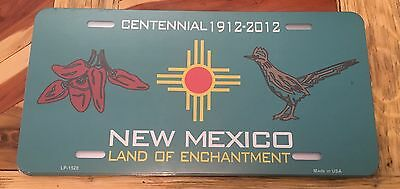 Three (3) New Mexico License Plate Centennial 100 Years 1912-2012 Plate Crafts
