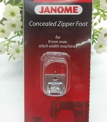"""Janome """"z"""" Invisible/concealed Zipper Foot Snap-On 9Mm Max Stitch Width Machines"""