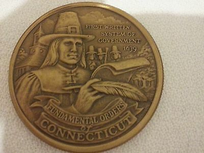 Connecticut American Revolution Bicentennial Bronze Commemorative Coin