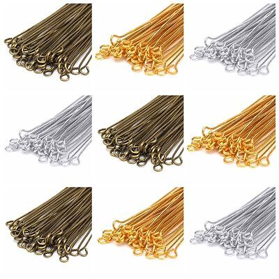Wholesale Silver/Gold Plated  Eye Pin Jewelry Making 20/30/40/50/60/70mm DIY