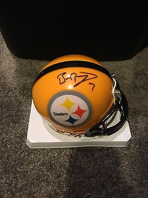 Ben Roethlisberger Signed Autographed Pittsburgh Steelers Gold Mini Helmet
