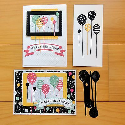 Couture Creations Bunch Of Balloons Birthday Celebration Cutting Die - Bnip