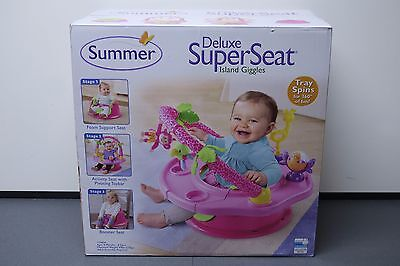 Summer Infant Girl 3-Stage SuperSeat Deluxe Giggles Island Positioner Booster