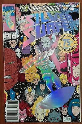 **Silver Surfer #75** GUARDIANS MOVIE!! GALACTUS! HERALD ORDEAL! NEWSSTAND!! NM