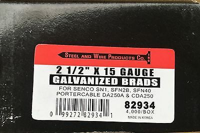 2 1/2 inch 15 Gauge Galvanized Angle Brads Nails Qty. 4,000 Free Shipping