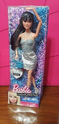NRFB 2012 Barbie Fashionistas Raquelle articulated doll with glitter highlights
