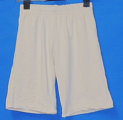 """New in Pack Boys 18"""" Size 10 skin colour Compression Shorts Pants Footy Soccer"""
