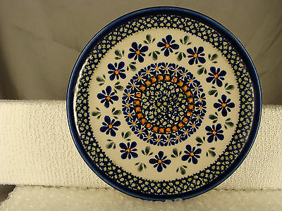 "Beautiful Vintage Boleslawiec Polish ZCB Pottery 8"" Collector Plate"