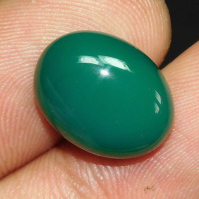 9.8Cts 100% NATURAL AMAZING GREEN ONYX OVAL 16X13 LOOSE CAB GEMSTONE PO336