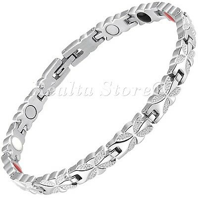 Womens Magnetic Health Bracelet 4 in 1 Magnets Negative Ions Germanium FIR - BFS