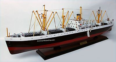 """Liberty Cargo US Navy Ship Model 33"""" Handcrafted Wooden Ship Model NEW"""