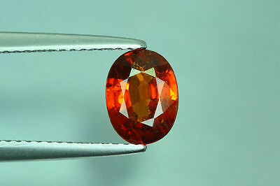 1.580Cts Amazing Top Luster Cut 100% Nr!! Fanta Orange Spessartite Garnet Aaa+++