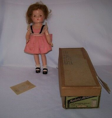 "1930s Madame Alexander Composition 13"" Betty In Original Outfit & Box #1863"