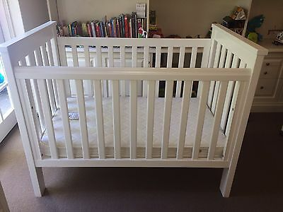 Boori Cot/Junior Bed and Mattress Plus Change Table