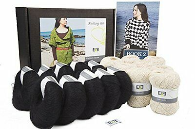 DesignEtte X-Small Hokkaido Northern Lights Knitting Kit, prime / Nero