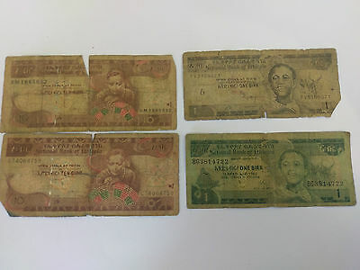 NATIONAL BANK OF ETHIOPIA 1 & 10 Birrs notes - 2009