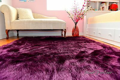 Faux Fur Rugs Nursery Area Rugs Home Accents Decor Lavender Shaggy Rectangle