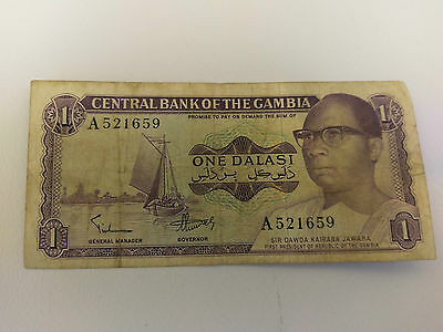 CENTRAL BANK OF THE GAMBIA 1 Dalasi note - 1978