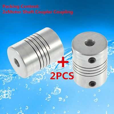2PCS 5x8 mm Motor Jaw Shaft Coupler 5mm To 8mm Flexible Coupling OD 19x25mm WS