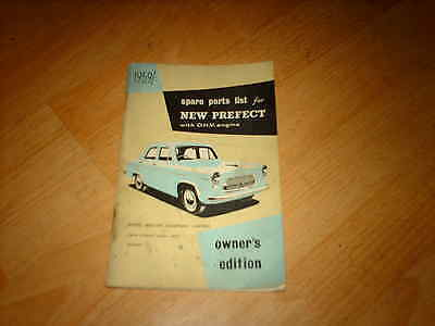 Ford Parts catalogue New Prefect 1959