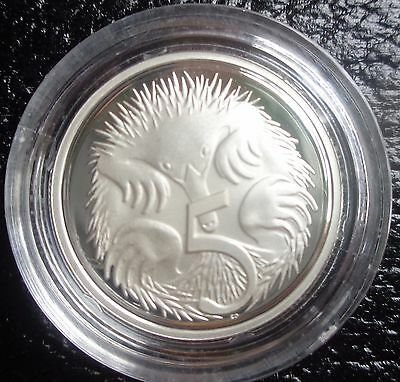 1991 silver proof 5 cent coin taken from masterpiece in silver set