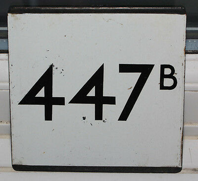London Transport 447b Enamel - E Plate - Reigate Redhill area