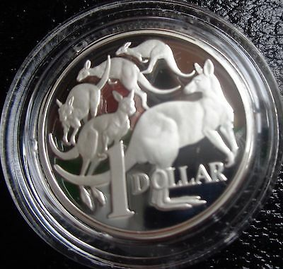 1991 silver proof $1 coin taken from masterpiece in silver set