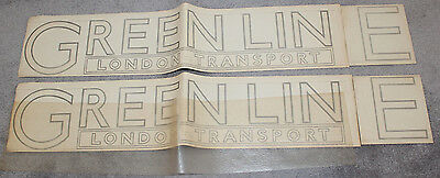 London Transport Green Line Bus Transfers x 2 - Original parts decals