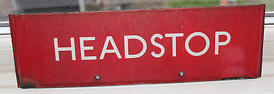 London Transport Enamel Bus Stop G Plate - HEADSTOP