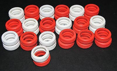 Scalextric Crash Barrier Tyres - Red And White