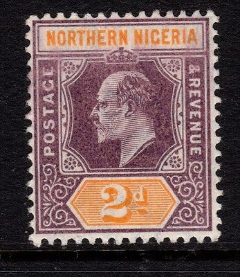 NORTHERN NIGERIA SG22a 1907 2d DULL PURPLE & YELLOW - unmounted mint