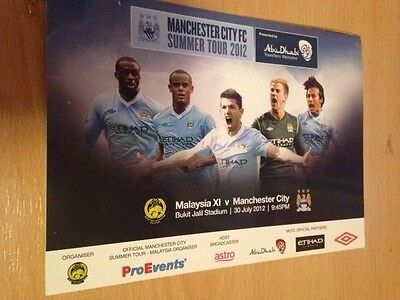 2012 Government Invitation Pass To - Malaysia V Manchester City
