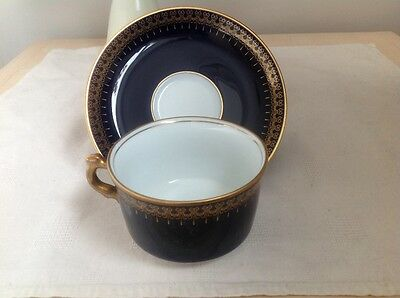 Romanov Genuine Cobalt Collection Cup, Saucer and Side Plate